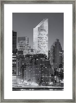 Citigroup Building At Twilight II Framed Print by Clarence Holmes