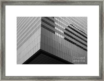 Citigroup Facade II Framed Print by Clarence Holmes
