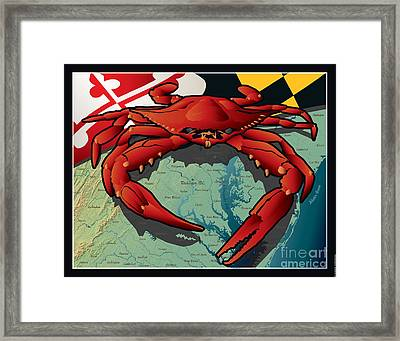 Citizen Crab Of Maryland Framed Print by Joe Barsin
