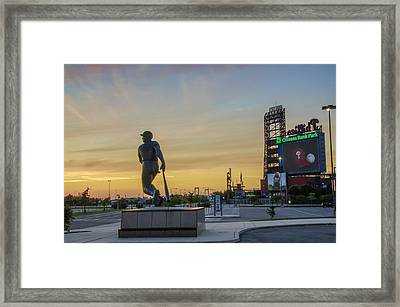 Citizens Bank Park Sunrise Framed Print by Bill Cannon