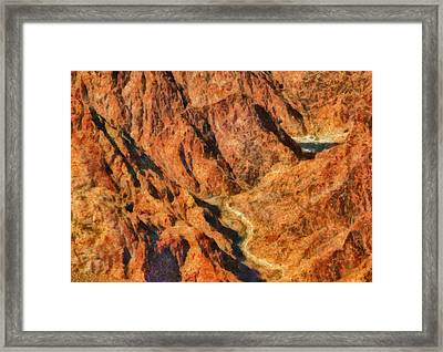 City - Arizona - Grand Canyon - A Look Into The Abyss Framed Print by Mike Savad