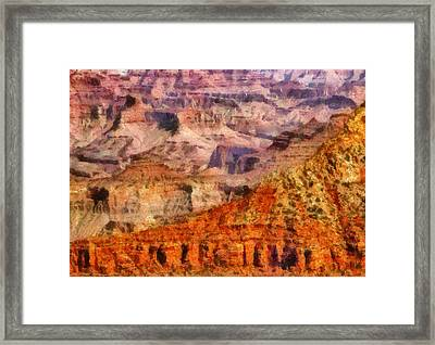 City - Arizona - Grand Canyon - Kabob Trail Framed Print by Mike Savad