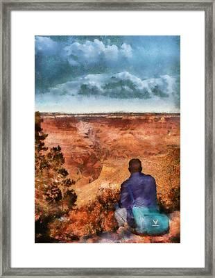 City - Arizona - Grand Canyon - The Vista Framed Print by Mike Savad