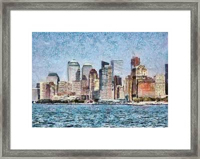 City - Ny - Manhattan Framed Print by Mike Savad