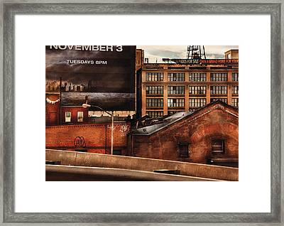 City - Ny - New York History Framed Print by Mike Savad