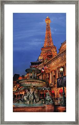 City - Vegas - Paris - Academie Nationale - Panorama Framed Print by Mike Savad