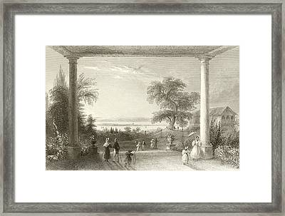 City And Lake Of Constance From The Chateau Wolfsberg Framed Print by William Henry Bartlett