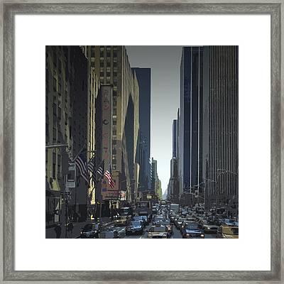 City-art 6th Avenue Ny  Framed Print by Melanie Viola