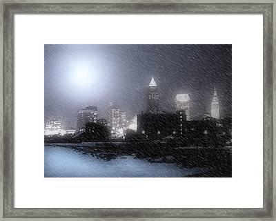 City Bathed In Winter Framed Print by Kenneth Krolikowski