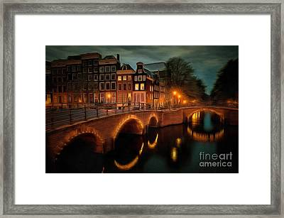 City Block 900 Another Perspective In Ambiance Framed Print by Catherine Lott