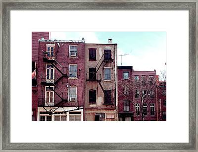 City Block Philly Framed Print by Jame Hayes