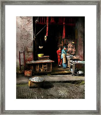 City - California - Fish Alley Smells Fowl 1886 Framed Print by Mike Savad