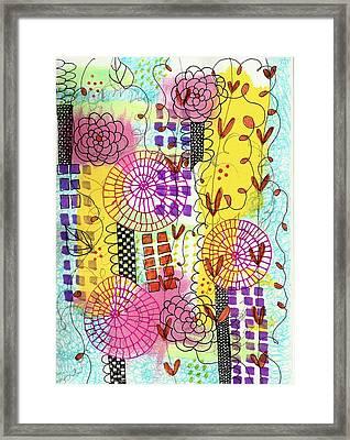 City Flower Garden Framed Print by Lisa Noneman