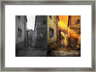 City - Germany - Alley - The Farmers Wife 1904 - Side By Side Framed Print by Mike Savad