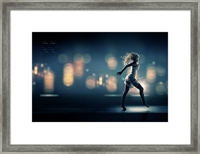 City Girl Framed Print by Johan Swanepoel