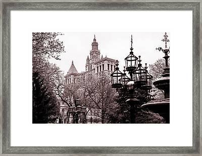 City Hall Framed Print by Az Jackson