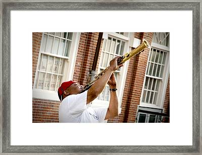 City Jazz Framed Print by Greg Fortier