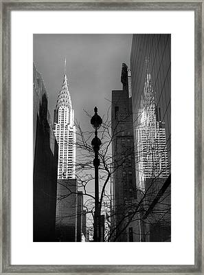 Chrysler Reflections Framed Print by Jessica Jenney