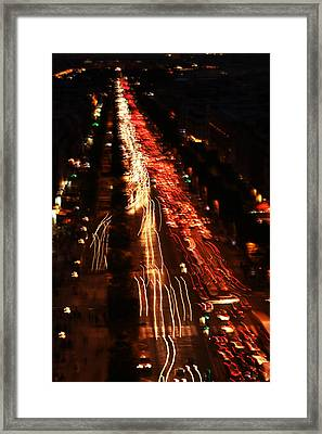 City Lights Framed Print by Fine Arts