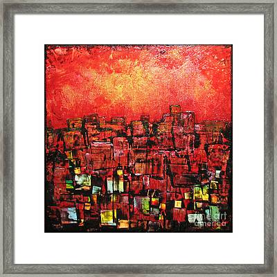 City Lights Framed Print by Shadia Zayed
