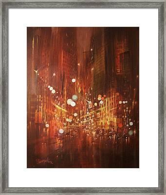 City Lights Framed Print by Tom Shropshire