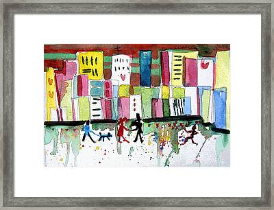 City Love Framed Print by Mindy Newman