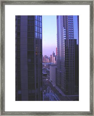 City Morning Between  Framed Print by Peter  McIntosh