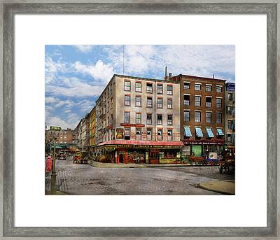 City - New York Ny - Fraunce's Tavern 1890 Framed Print by Mike Savad