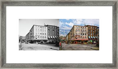 City - New York Ny - Fraunce's Tavern 1890 - Side By Side Framed Print by Mike Savad