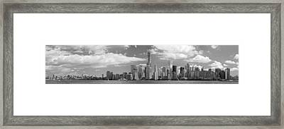 City - Ny - The Shades Of A City Framed Print by Mike Savad