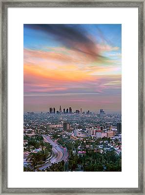 City Of Angels Framed Print by Aron Kearney