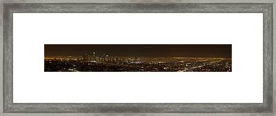 City Of Angels Panorama Framed Print by Brad Scott
