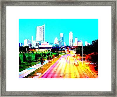 City Of Austin From The Walk Bridge Framed Print by James Granberry