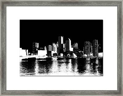 City Of Boston Skyline   Framed Print by Enki Art