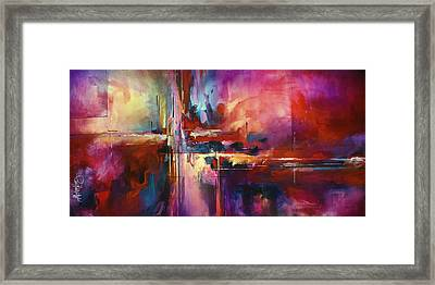 'city Of Fire' Framed Print by Michael Lang