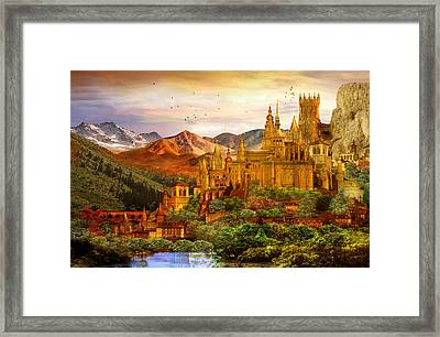 City Of Gold Framed Print by Mary Hood