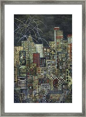 City Of Light Framed Print by Barb Pearson