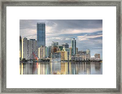 City Of Miami Framed Print by William Wetmore