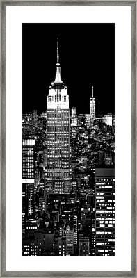 City Of The Night Framed Print by Az Jackson