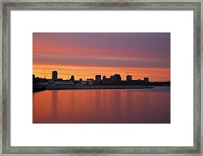City On Fire Framed Print by CJ Schmit