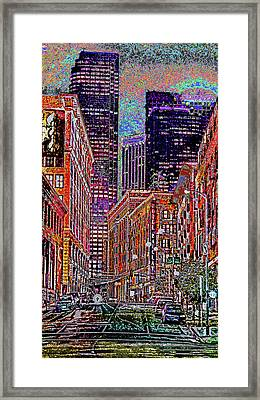 City Perspective  Framed Print by Kenneth James