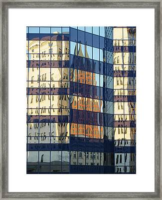 City Reflections 1 Framed Print by Anita Burgermeister