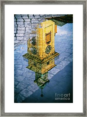 City Reflections Framed Print by Mariola Bitner