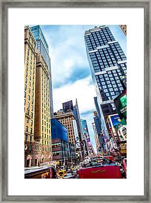 City Sights Nyc Framed Print by Az Jackson