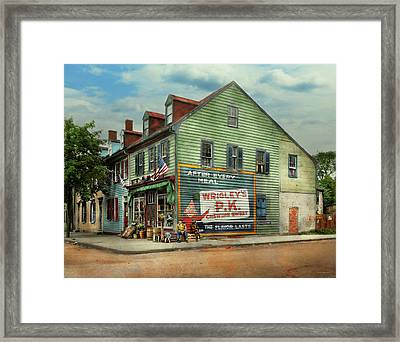 City- Va - C And G Grocery Store 1927 Framed Print by Mike Savad