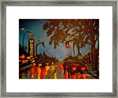 Cityscape Painting Framed Print by John Malone