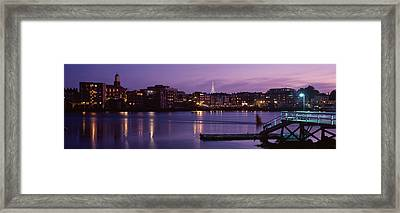 Cityscape Portsmouth Nh Usa Framed Print by Panoramic Images