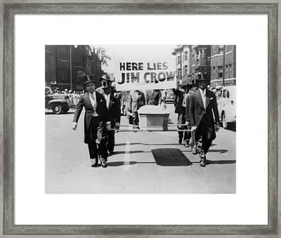 Civil Rights Demonstration In A Naacp Framed Print by Everett