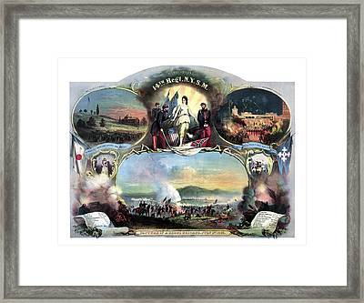 Civil War 14th Regiment Memorial Framed Print by War Is Hell Store