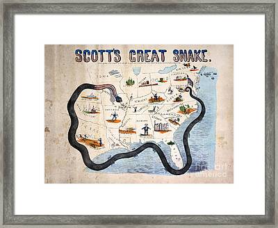 Civil War: Anaconda Plan Framed Print by Granger